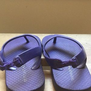 Purple toddler girl flip flops